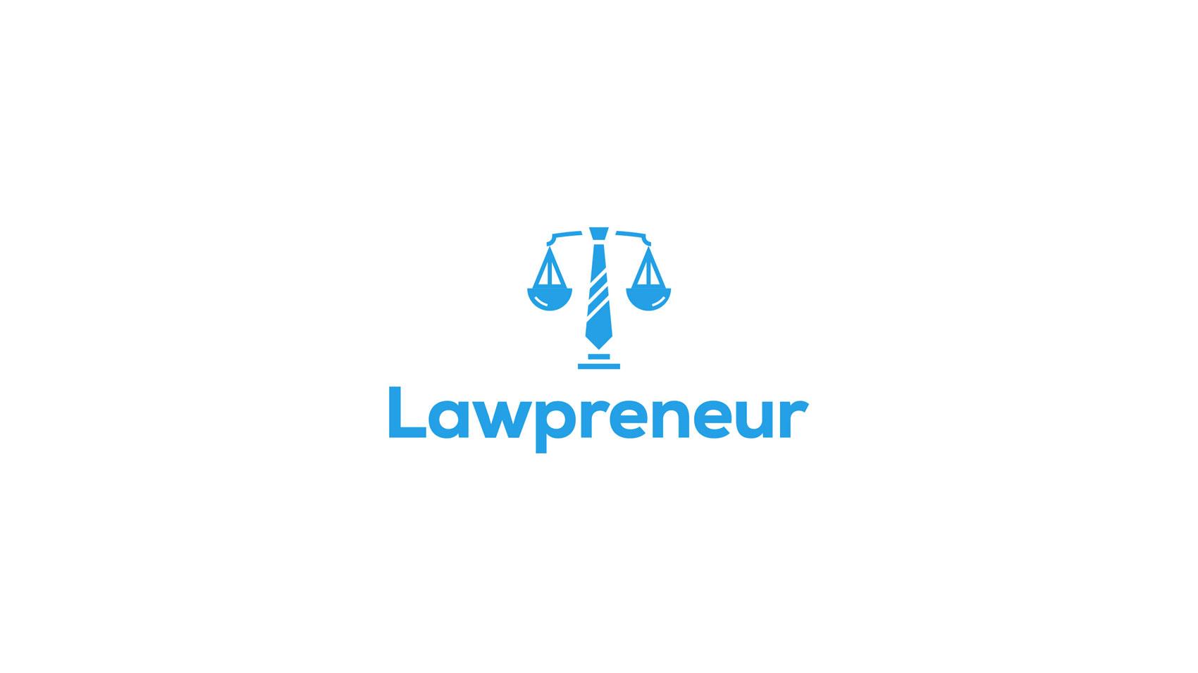 Lawpreneur logo design