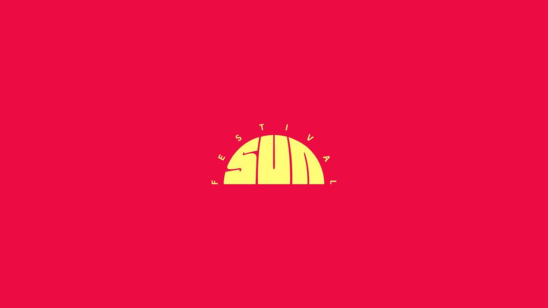 Sun festival logo design