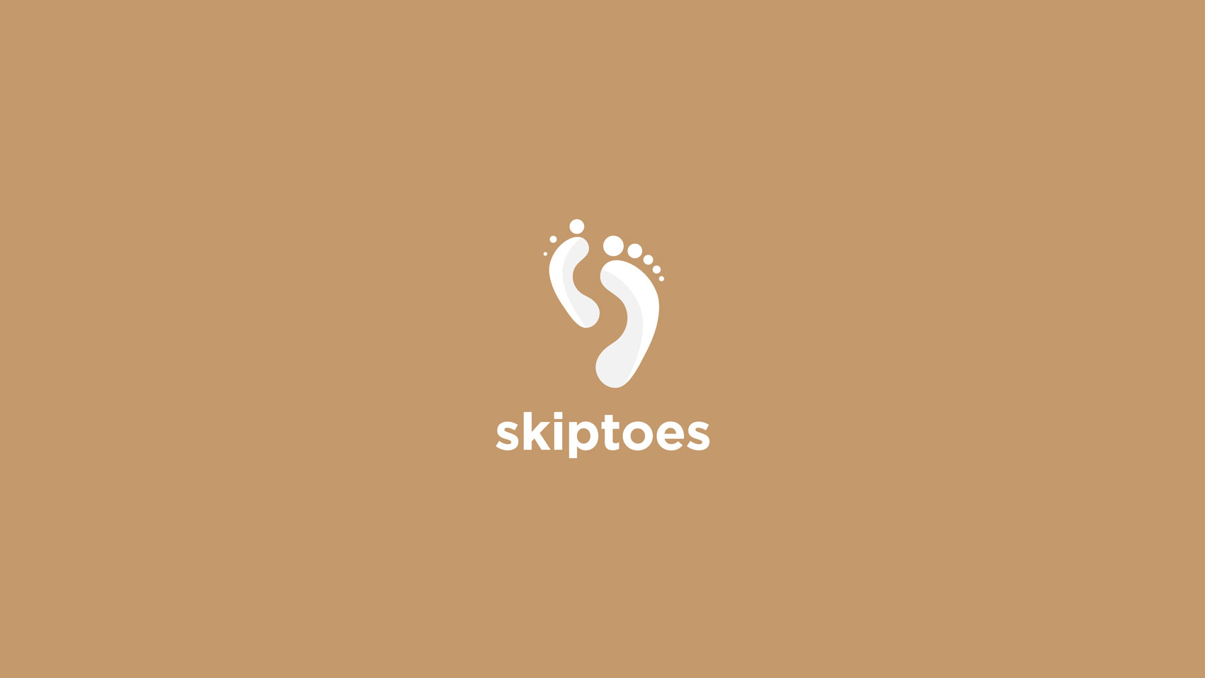 skiptoes logo design