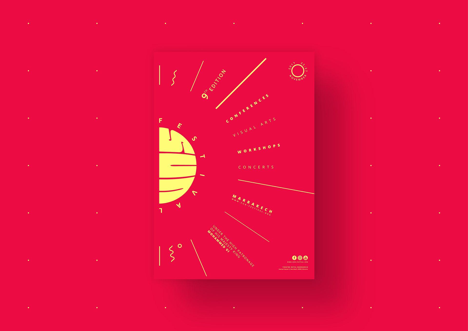 Sun Festival Flyer design