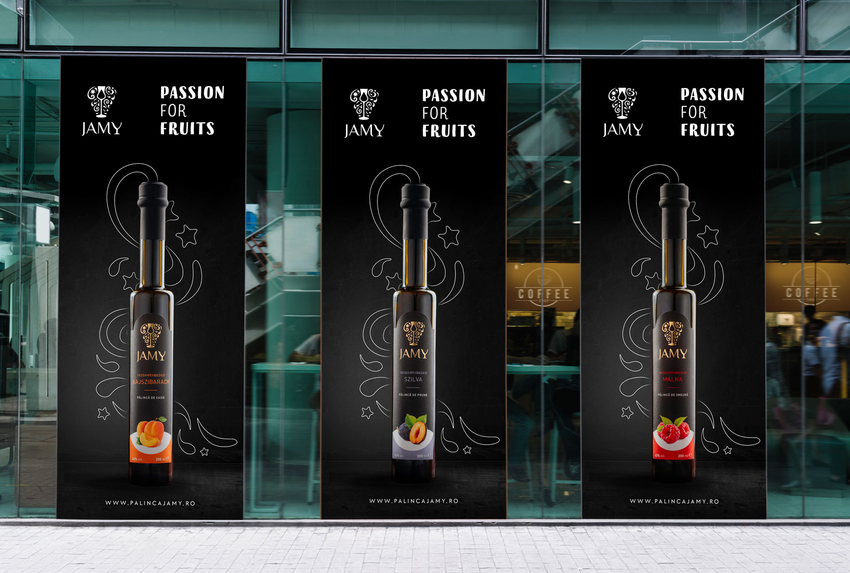 Glass label banner design