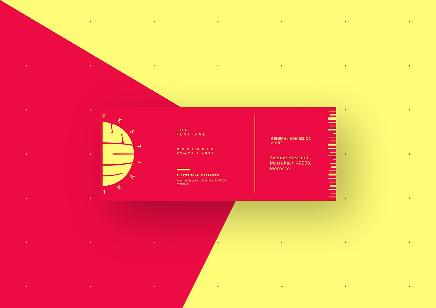 Sun Festival ticket design