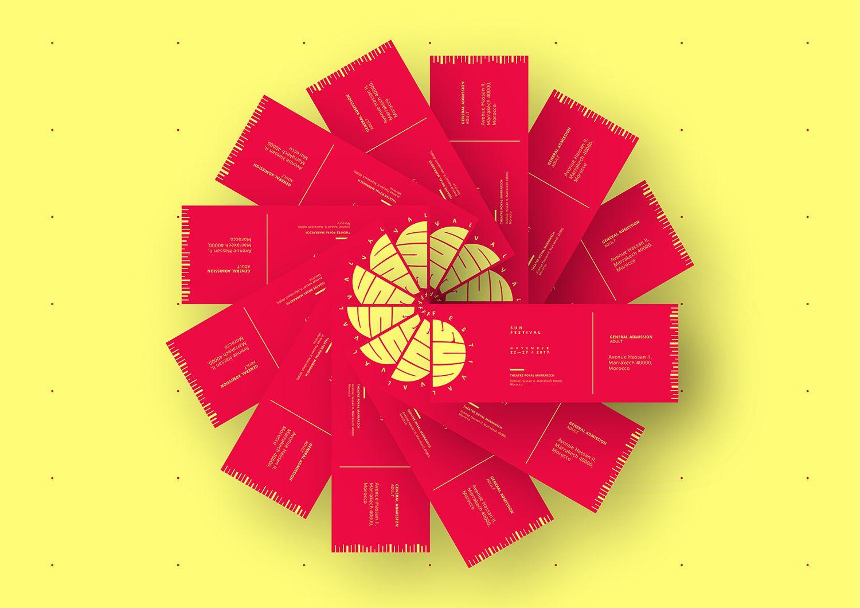 Sun Festival Ticket design rotation